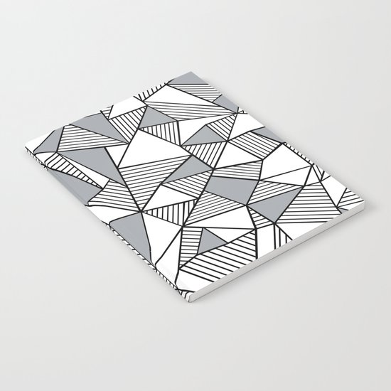 Abstract Lines With Grey Blocks Notebook