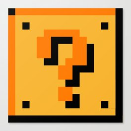 ?Question Mark block- Super Mario Bros. Canvas Print