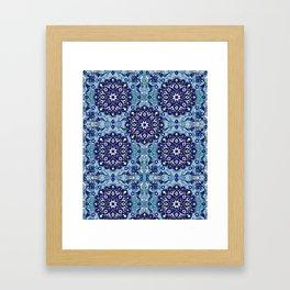 blue sky tile Framed Art Print