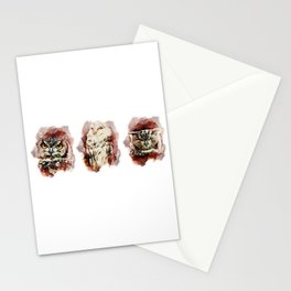 3 owl red Stationery Cards