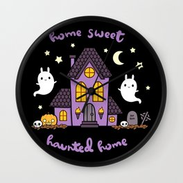 Home Sweet Haunted Home Wall Clock