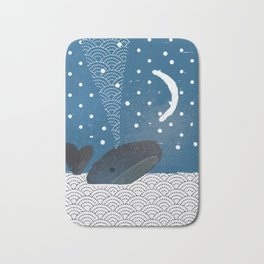 The Whale And The Moon Bath Mat