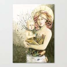 Mother Earth to her child Canvas Print