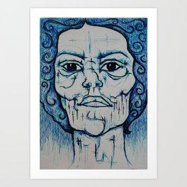 Visage 16 Art Print