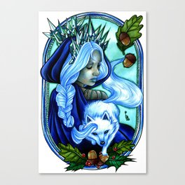 Winter Ice Queen Canvas Print