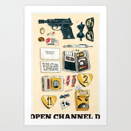 Open Channel D Art Print