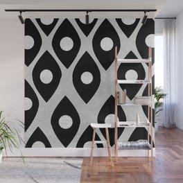 Black and White Pattern Fish Eye Design Wall Mural