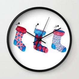 Holiday socks Wall Clock
