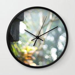Balinese Serenity Wall Clock