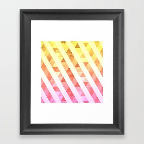 Triangles Lines Pattern Framed Art Print