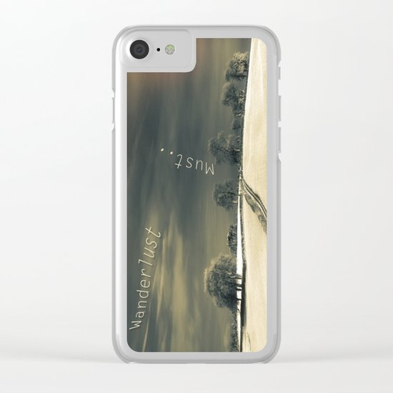 I Wander because... Clear iPhone Case
