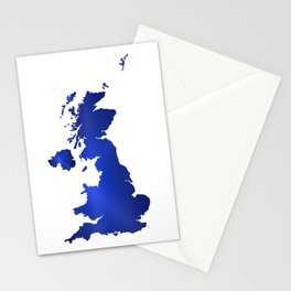 United Kingdom Map silhouette Stationery Cards