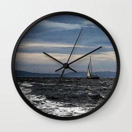 Sailing on the Oslofjord Wall Clock