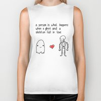 medical Biker Tanks featuring Medical Fact by Eat Yr Ghost