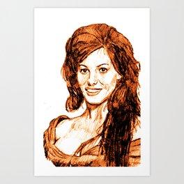 Claudia Cardinale Art Print