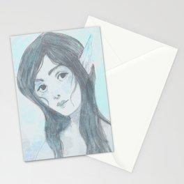 Mermaid (Blue) Stationery Cards