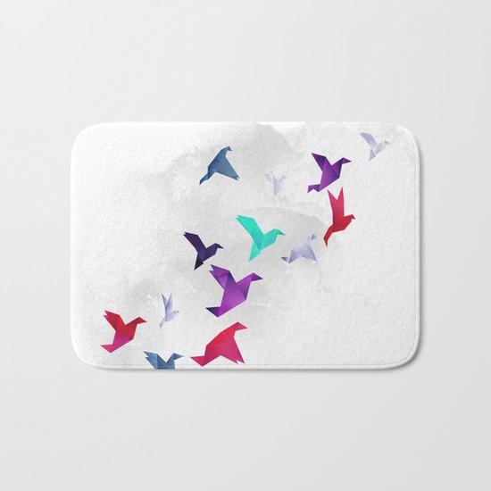 Paper birds Bath Mat
