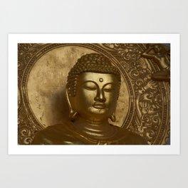 Bouddha in #london Art Print