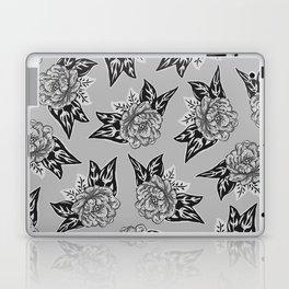 Cabbage Roses in Grey Laptop & iPad Skin