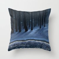 thrones Throw Pillows featuring And Now My Watch Begins – Game Of Thrones Fan Art by Nicole Cleary