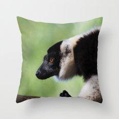 Varecia Variegata II Throw Pillow