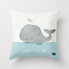 Whale Of A Time Throw Pillow