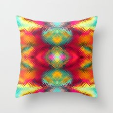 Rainbow lines Throw Pillow