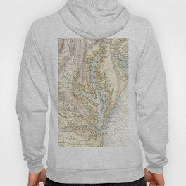 Vintage Map of The Chesapeake Bay(1778) 2 Hoody