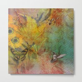 Midsummer in the Garden Metal Print