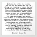 Man In The Arena Theodore Roosevelt Quote by theartshed