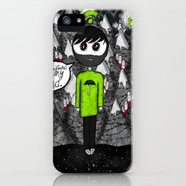 """Psychic syndromes : """"Thought insertion syndrome"""" by Anxiety and Gretel iPhone Case"""