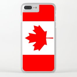 Canadian Flag (Canada) Clear iPhone Case