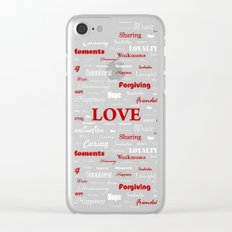 Love is a Strawberry Ice Cream Clear iPhone Case