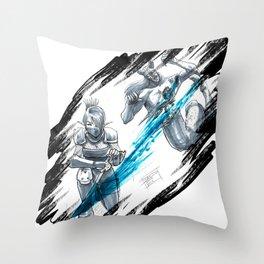 Ninja Slash Throw Pillow