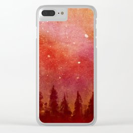 Fire Heaven Clear iPhone Case