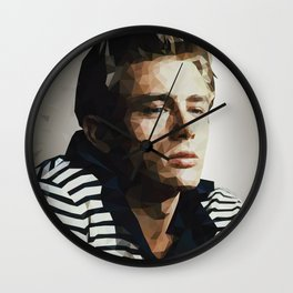 Pop Icon Dean James Portrait Wall Clock