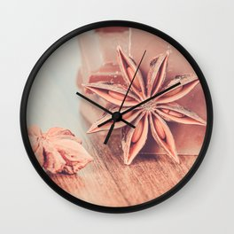 Anise, milk chocolate and coffee beans Wall Clock