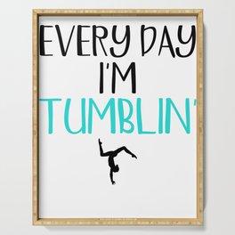Gymnast Every Day I'm Tumblin' Serving Tray