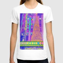 Radio City Music Hall with Holiday Tree, New York City, New York T-shirt