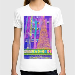 Radio City Music Hall with Holiday Tree, New York City, New York T-shirt