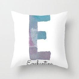 E- Enchanting Throw Pillow