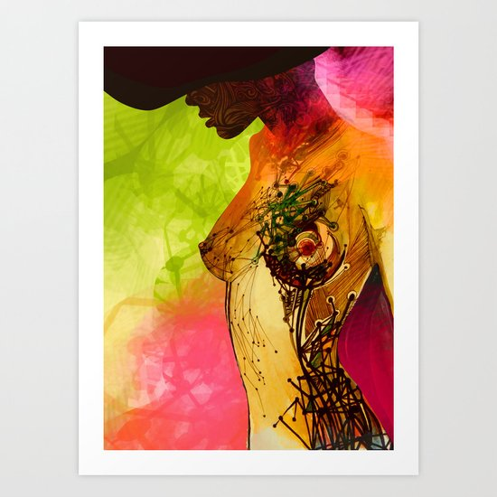 Woman. Complicated  Art Print