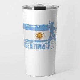 Football Worldcup Argentina Argentines Soccer Team Sports Footballer Rugby Gift Travel Mug