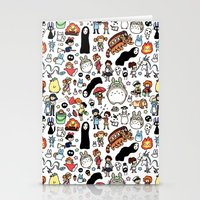 theater Stationery Cards featuring Kawaii Ghibli Doodle by KiraKiraDoodles