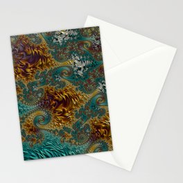 Marigold Garden - Fractal Art Stationery Cards