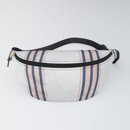 Blush and Navy Blue Pin Stripes Fanny Pack