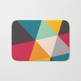 Geometric Triangles Bath Mat