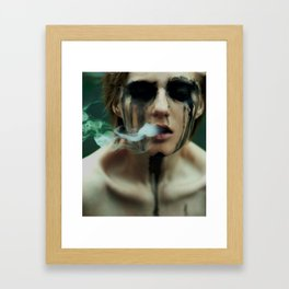 i want to breathe smoke. Framed Art Print