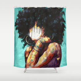 Naturally II TEAL Shower Curtain