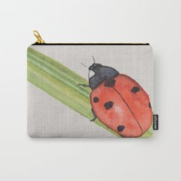Ladybird on a blade of grass Carry-All Pouch